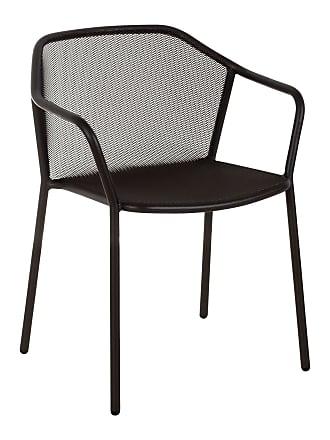 Emu Darwin Gartenarmlehnstuhl - schwarz/pulverbeschichtet/BxHxT 60x77x55cm