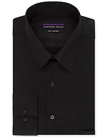 aba79f7806 Geoffrey Beene Mens Sateen Tall Fit Solid Point Collar Dress Shirt