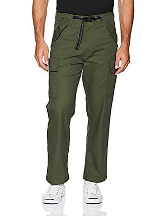 Levi's Mens Military Banded Carrier Cargo Pant, Lodge Green/Poly Dobby/Stretch, 34W x 32L