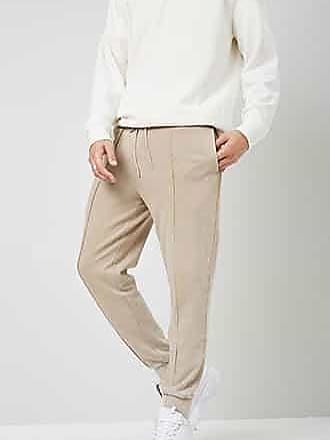 21 Men Piped Seam Joggers at Forever 21 Taupe