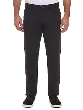 Robert Graham Mens Pollard Perfect Fit Pants In Charcoal Size: 29W by Robert Graham