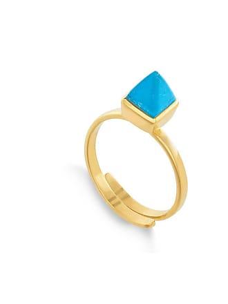 SVP Jewellery Rock the Casbah Turquoise 18kt Gold Vermeil Adjustable Ring - Adjustable