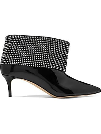26833e14cb442 Christopher Kane Crystal-embellished Patent-leather Ankle Boots - Black