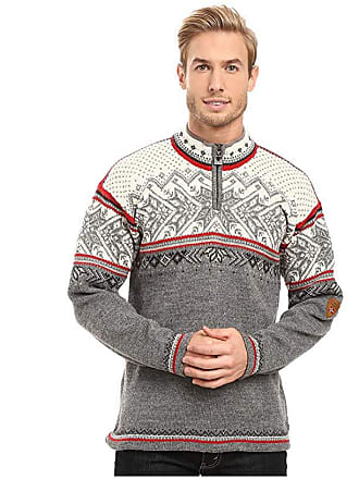 Dale of Norway Vail (Smoke/Raspberry) Mens Sweater