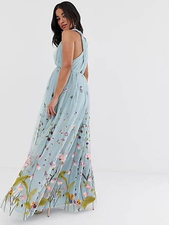 1b62edd5f5d Asos Maternity ASOS DESIGN Maternity tulle maxi dress with delicate floral  embroidery and twist straps -