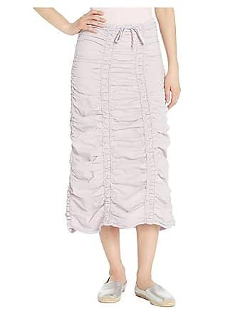 Xcvi Stretch Poplin Double Shirred Panel Skirt (Orchard Plum) Womens Skirt