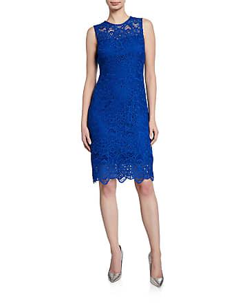 Iconic American Designer Lace Sheath Sleeveless Dress