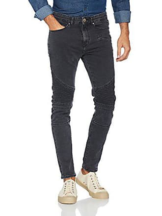 4e182e9e15444 New Look Washed Skinny Biker, Jeans Homme, Noir, 36 (taille du fabricant