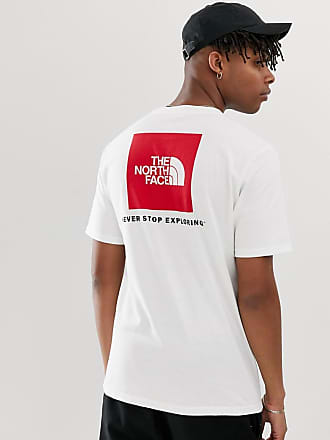 The North Face Red Box Heavyweight t-shirt in white - White