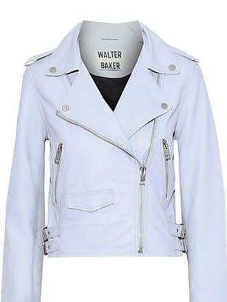 f0b301a757362 W118 by Walter Baker W118 By Walter Baker Woman Liz Leather Biker Jacket  Sky Blue Size