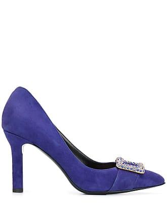 Escada pointed buckle pumps - Azul