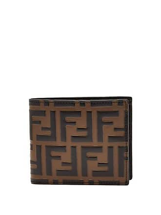 abd6b71c6c5 Fendi Logo Embossed Bi Fold Leather Wallet - Mens - Brown