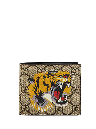 d39c103836e8 Gucci Bestiary Tiger-Print GG Supreme Wallet