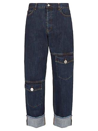 J.W.Anderson Jw Anderson - Raw Edge Asymmetric Pocket Straight Leg Jeans - Mens - Indigo