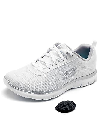 Skechers Tênis Skechers Flex Appeal 2.0 - Break Free Branco/Prata