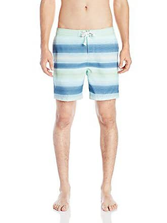 d1f35a8f84 Original Penguin Mens Gradient Stripe Print Fixed Volley Swim Trunk, Dark  Sapphire, 32