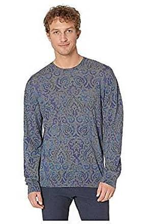 Robert Graham Mens Cairo Crew Neck Sweater, Multi, 2XLARGE