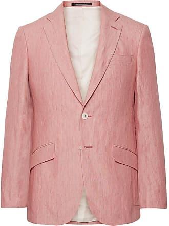Richard James Coral Seishen Slim-fit Linen Suit Jacket - Coral