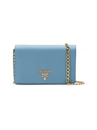 Prada Bolsa tiracolo de couro - Azul