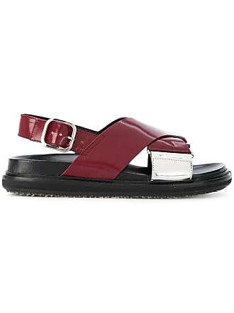 Marni crossover sandals - Red