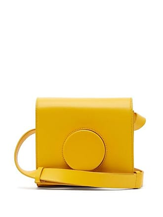 970725a21e Christophe Lemaire Leather Cross Body Camera Bag - Womens - Yellow