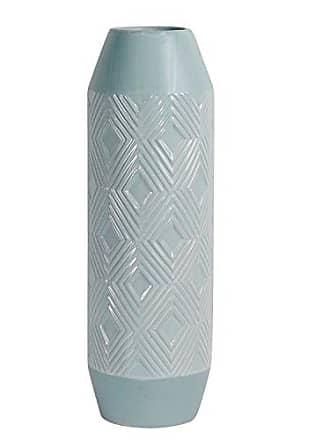 Sagebrook Home 12981-02 Ceramic Vase, 5.5 x 5.5 x 17.25, Powder Blue