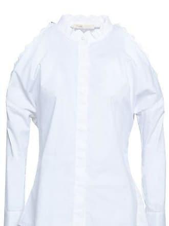 f14b5fe929f57e Maje Maje Woman Calinka Cold-shoulder Cotton-poplin Shirt White Size 3