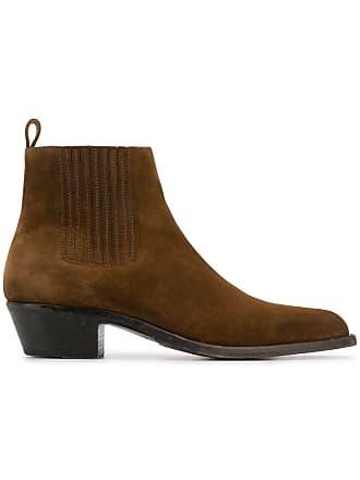 Saint Laurent Wyatt chelsea boots - Brown