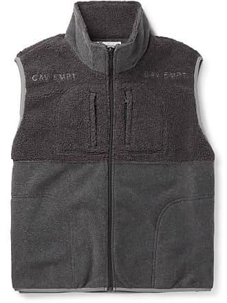 Cav Empt Colour-block Fleece Gilet - Gray