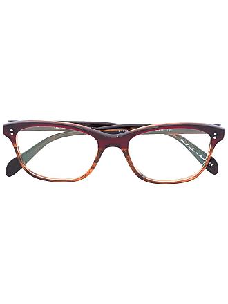 Oliver Peoples Armação de óculos Ashton - Marrom