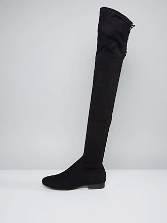 7b795ae49a34 Asos ASOS KASBA WIDE LEG Flat Over The Knee Boots - Black