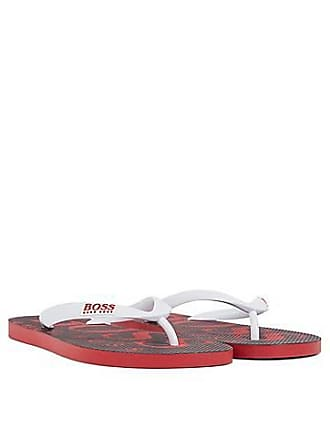 6aee837235ba3 BOSS Rubber flip-flops with contrasting logo detail
