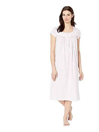 Eileen West Cotton Jersey Ballet Nightgown (White Rose Leaf Print) Womens  Pajama f78f69629