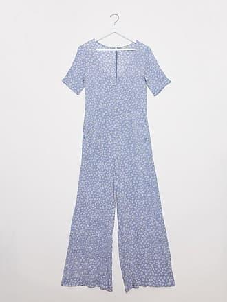 Pimkie floral jumpsuit in light blue