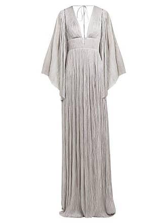 2248daf859b9a8 Maria Lucia Hohan Zakiya Front Slit Pleated Maxi Dress - Womens - Silver