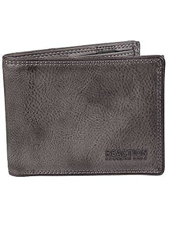 Kenneth Cole Reaction Mens RFID Blocking Security Passcase Bifold Wallet, gray Erben, One Size