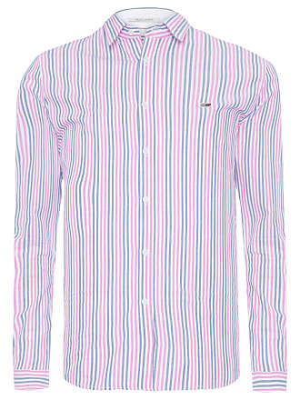 Tommy Jeans CAMISA MASCULINA ESSENTIAL STRIPE - ROSA