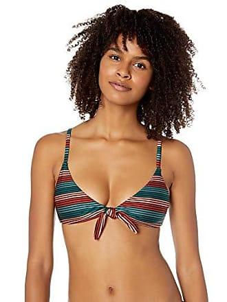 8f84c93af8ccf Rvca Juniors Frame Knot Bralette Bikini TOP, Multi, M