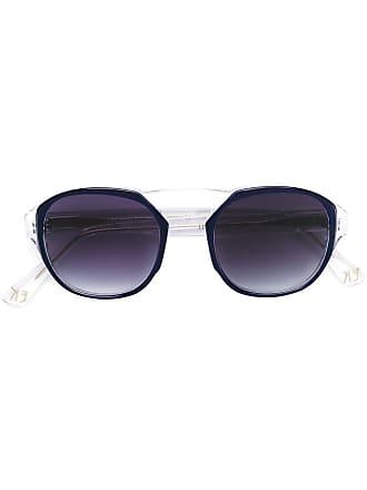 Emmanuelle Khanh round frame sunglasses - Azul