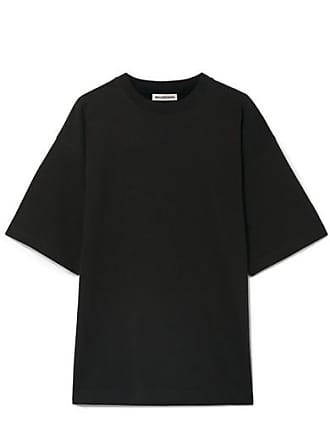 Balenciaga Oversized Embroidered Cotton-jersey T-shirt - Black