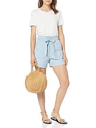 78c2bde548 Vero Moda Vmemily HR Chambray Pocket Shorts GA, Multicolore (Light Blue  Denim Stripes: