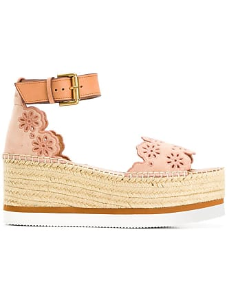 See By Chloé scalloped edge sandals - Pink