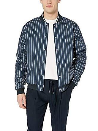 Zanerobe Mens Stripe Varsity Jacket, Ink/Shell, Extra Extra Large