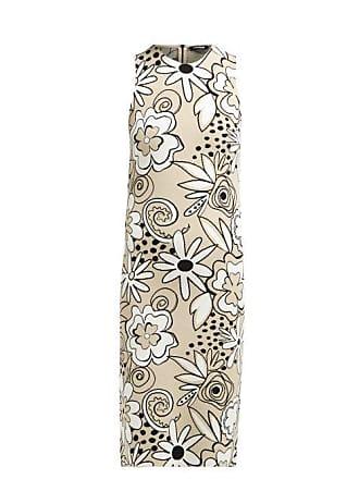 Kwaidan Editions Floral Jacquard Pencil Dress - Womens - Beige Multi