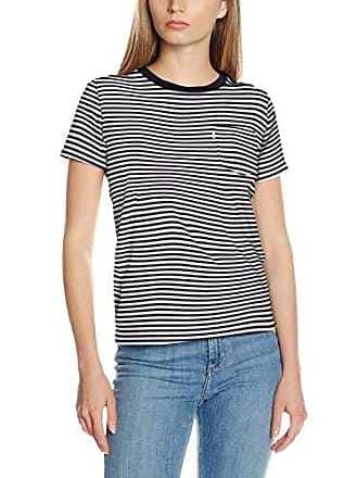 9647b9f522a41 Levi s The Crew Camiseta (Gina Obsidian Cloud Dancer 0079) Small para Mujer