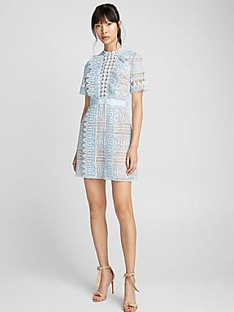 Self Portrait Blue Spiral dress