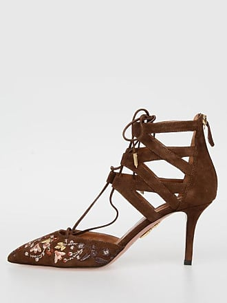 Embroidered 7 5 Pumps 36 Cm Aquazzura 5 Suede BELGRAVIA size LVqjSUzMGp