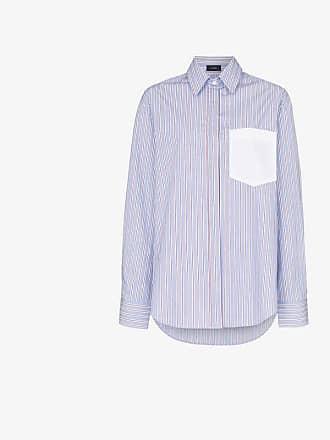 Joseph Gibson oversized striped cotton shirt