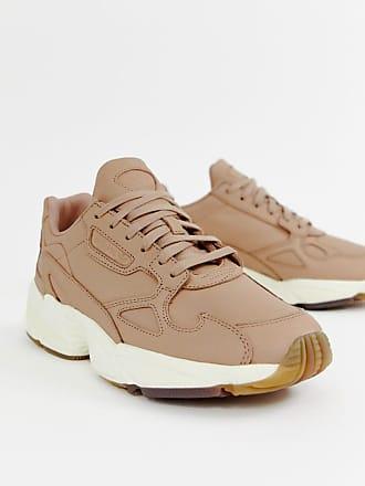 adidas Originals adidas Orignals Premium Leather Falcon sneakers in beige - Beige