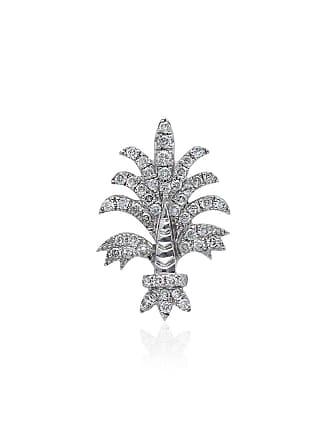 Yvonne Léon 18k white gold Bo Fleur diamond earring - Silver